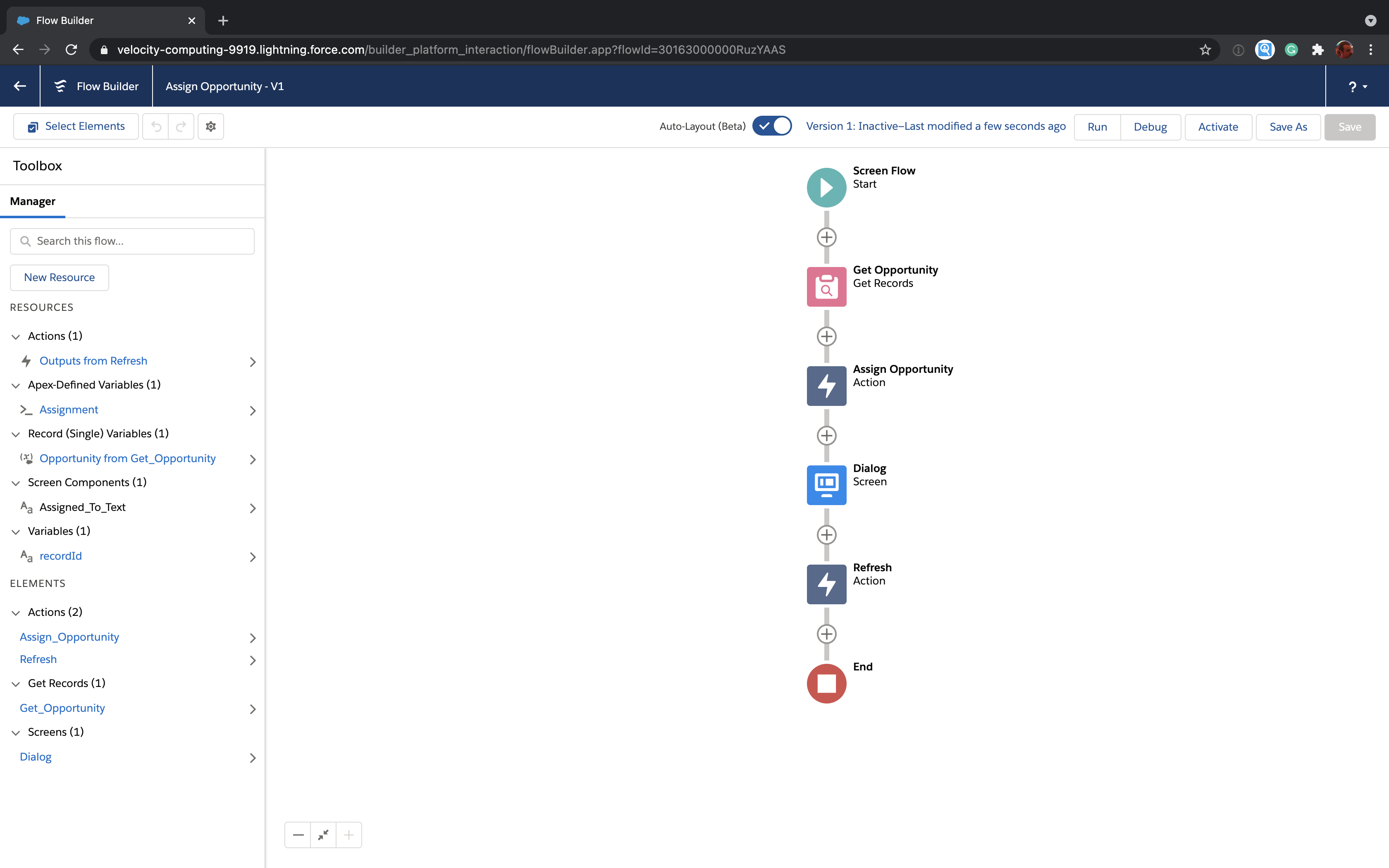 Salesforce assignment Flow in full